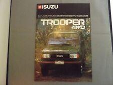 ISUZU TROOPER 4WD BROCHURE - 1987 - 22 PAGES