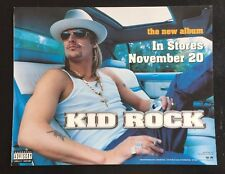 RARE KID ROCK PROMO WINDOW CLING COCKY 2001 PICTURE IN STORES NOVEMBER 20 L@@K