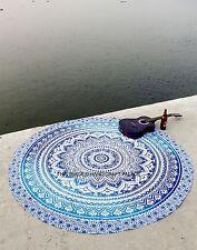Tapis Indien Rond Yoga Tapis De Plage Coton Ombre Mandala Tapisseries Décoration