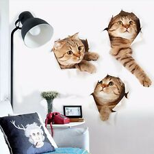 deko wandtattoos wandbilder mit katzen auf 3d f rs. Black Bedroom Furniture Sets. Home Design Ideas