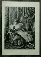 HO4) Kunst Druck 1885-1900 Lillian Russel USA Schauspielerin Sängerin Frau Mode