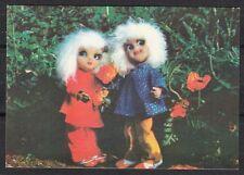 Soviet Lithuania 1979 mint postal card Greetings Wedding dolls Animation