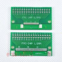 5pcs FFC/FPC 34 Pin 1mm 0.5mm to DIP Adapter PCB Board Converter Double Side F87