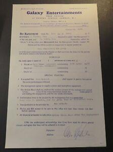 1965 Gene Vincent Performance Concert Contract Hall Green, Birmingham UK