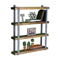 Four Tier Wall Mounted Industrial Shelves