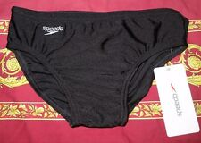NEW Speedo Briefs Swimmers - Youth Size 32 - NEW - Black - ede