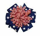 Patriotic Suzie Q Korker Hair Bow