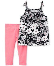 Carter's Niñas ' 2-Piece Top y Leggings Traje Conjunto Ropa para Jugar Floral