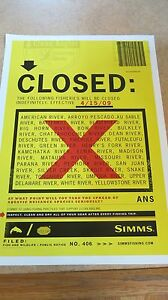 """RARE Simms """"CLOSED"""" Poster MINT!"""