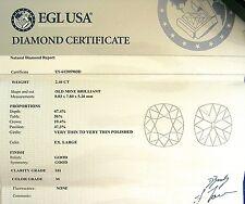 LOOSE 2.46 CARAT OLD MINE CUSHION DIAMOND M COLOR SI1 CLARITY EGL CERTIFIED
