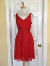 J CREW orange dress size 8