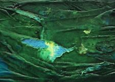 """NATURE ABSTRACTION Alcohol Ink ACEO Painting 2.5""""x 3.5"""" Julia Garcia Art NEW"""