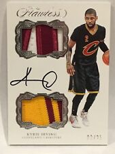 KYRIE IRVING 2016-2017 PANINI FLAWLESS BEAUTIFUL 2 COLOR DUAL PATCH 3/25 AUTO