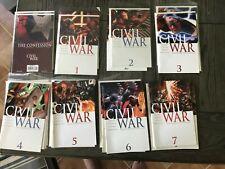 CIVIL WAR 1 2 3 4 5 6 7 + THE CONFESSION MULTIPLE COPIES NM AVENGERS THOR XMEN