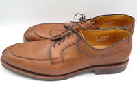 Allen Edmonds Stockbridge Walnut Leather Moc Toe Derby Oxford Shoes Mens 13 A US