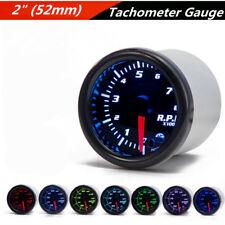 """2"""" 52mm Black Face 7-Color LED Vehicles Tachometer Tach RPM Digital Gauge DC12V"""