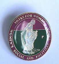 Suffragette Sowing the Seeds Badge Brooch Jewellery & Free Velvet Gift Pouch