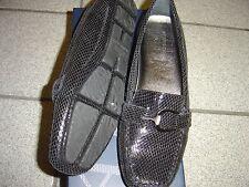 NEW WOMENS ANN KLEIN BLACK GLITTER IFLEX SLIP-ON SHOES SIZE 9 M