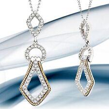 MODEL 7175D17 DIAMOND SHAPED TWOTONE 0.20CT DIAMOND PENDANT