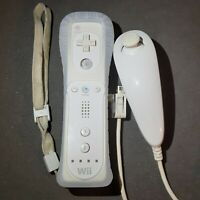 Nintendo Wii Remote Controller & Nunchuck + Rubber cover - TESTED - RVL-003 OEM