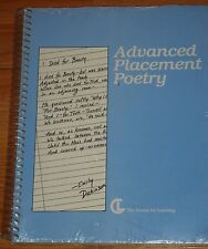 ADVANCED PLACEMENT POETRY by Center for Learning Network Staff (1988 Spiral) NEW
