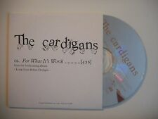 THE CARDIGANS : FOR WHAT IT'S WORTH [CD SINGLE PORT GRATUIT]