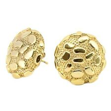 New Hot Arrival! Nugget Earrings 14K Finish Round Shape Three Sizes
