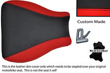 BLACK AND RED CUSTOM 01-02 K1 K2 FITS SUZUKI GSXR 1000 LEATHER SEAT COVER