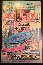 *CAST SIGNED* Broadway Window Card~The Goodbye Girl~Martin Short & B. Peters!