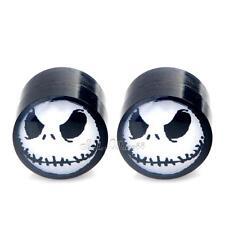 2x Magnetic Acrylic STUD Ear Earring Non-Pierced NBX Nightmare Jack Skellingto