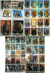Star Wars FORCE ATTAX Movie Card - KOMPLETTSET AUSSUCHEN