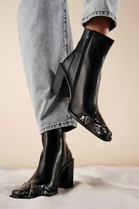 New Free People Jessa Western Square Toe Boots Size 9.5 MSRP: $228