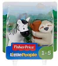 Little People Animal Figure 2 Pack - Zebra and Sloth