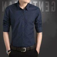 Long Sleeve Fashion Slim Fit Men's Shirt Casual Luxury Tops Stylish Dress Shirts