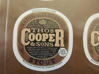 BEAR BOTTOM STOUT BOTTOMS UP Beer COASTER Mat w// BEAR Sevierville TENNESSEE 2000