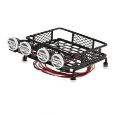 1:10 RC Metal Luggage Roof Rack w/ LED Lights (2W2R) for Truck Rock Crawlers