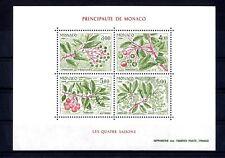 Monaco Block 34 ** Die vier Jahreszeiten Zweig eines Erdbeerbaumes