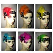 Accessoires de coiffure bandeau noir en dentelle pour femme