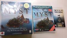 Myst Bundle CD-ROM Game New NOS Factory Windows 3.1 / 95 Cyan Bonus 2 BOOKS