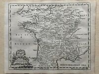 1760 France Original Antique Map By Thomas Jeffreys 260 Years Old