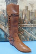 Pazzo  Womens US 7  Brown Leather Tall  Boots