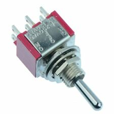 2 x On-Off-On Miniature Toggle Switch 5A DPDT