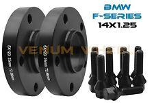 BMW F-Series Models 25mm Black Wheel Spacers | Hub Centric | + 14x1.25 Lug Bolts