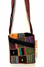 Karma Circle USA Crossbody Messenger Bag Bohemian Cotton Zipper Front Pocket