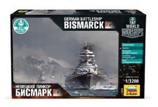 ZVEZDA 9204 WORLD OF WARSHIPS GERMAN BATTLESHIP BISMARCK MODEL KIT 1/1200 NEW