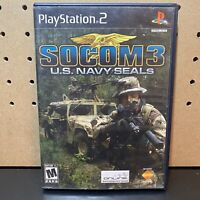 SOCOM 3 US Navy Seals (Sony PlayStation 2) PS2 - Tested -Free Shipping
