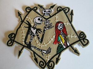 SALLY & JACK Nightmare Before Christmas Embroidered Iron On / Sew On Patch