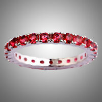 Love Style Round Cut Ruby Spinel Gemstone Silver Ring Size L N P R T V Y 13 Gift