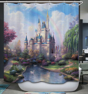 Fairy Tale Castle Shower Curtain Magical Scenic Fantasy