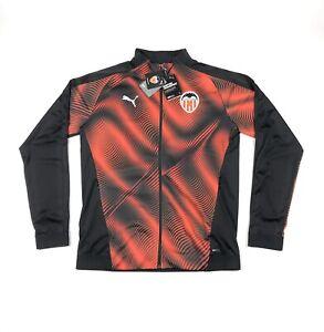 Puma VCF Stadium Valencia Black Orange Mens Medium Slim Jacket Drycell 756355-03